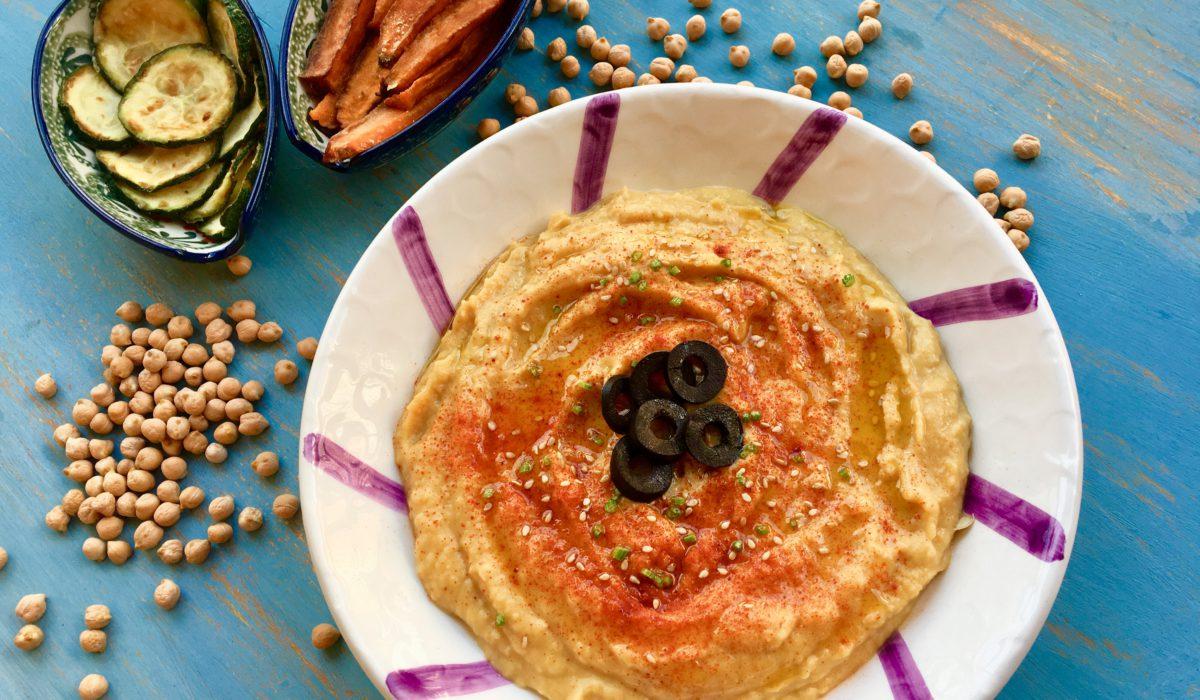 Hummus sin Tahini.