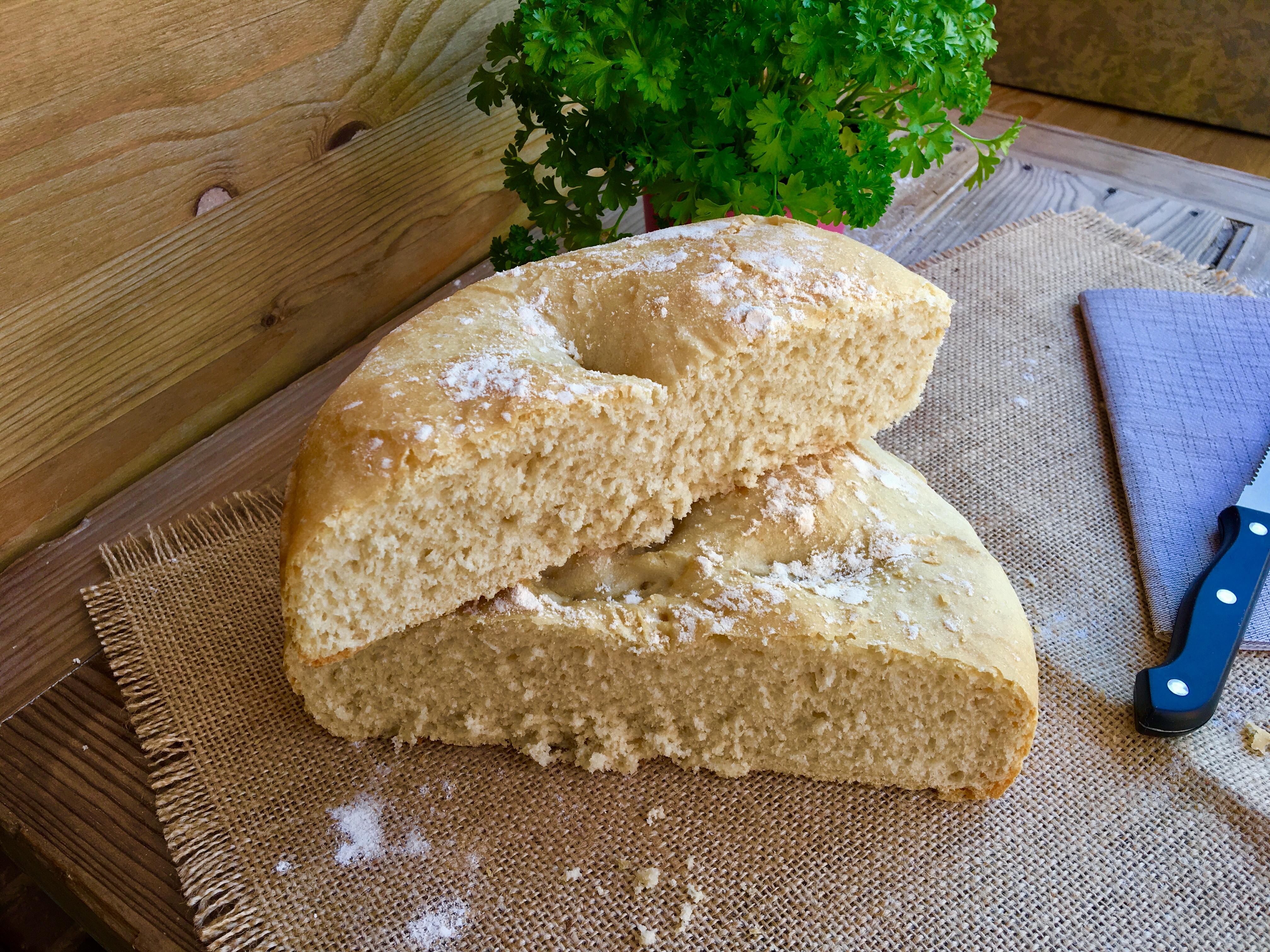 Hogaza de pan en cazuela