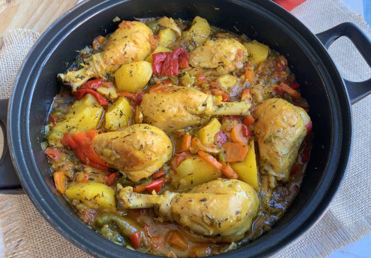 Muslitos de pollo a la cazuela